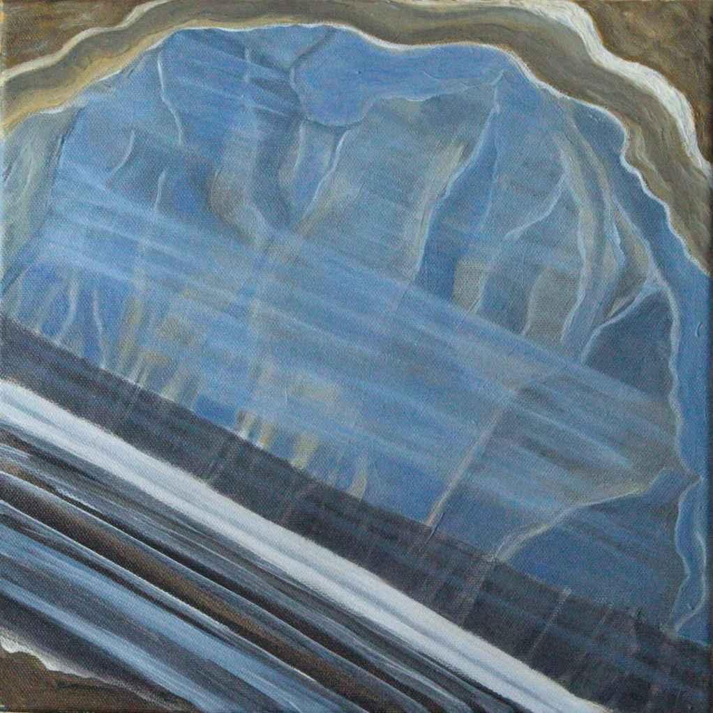 Anastasia Lobkovski, Akaatti, Agate, oil painting 2021