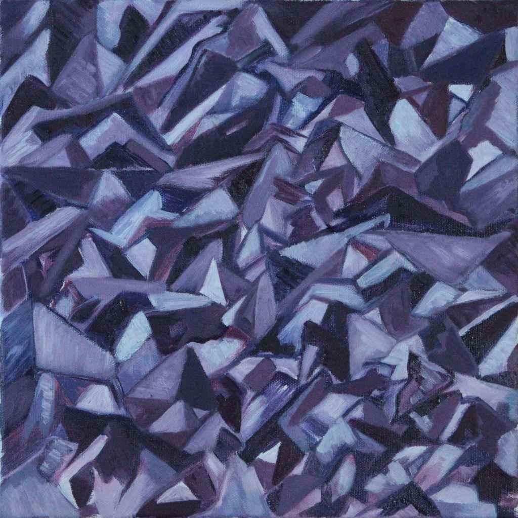 Anastasia Lobkovski, Amethyst, oil painting 2021