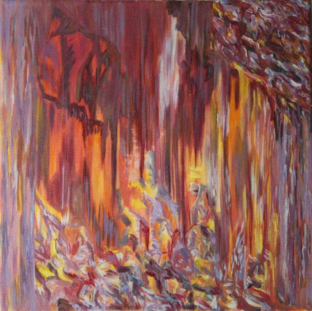 Anastasia Lobkovski, Spirits of the land, oil painting 2021